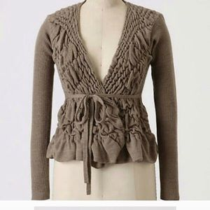 """Anthropologie """"Sparrow"""" dimpled cardigan."""